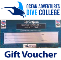 Scuba Diving Gift Voucher - Ocean Adventures Scuba Diving Dive College St Neots